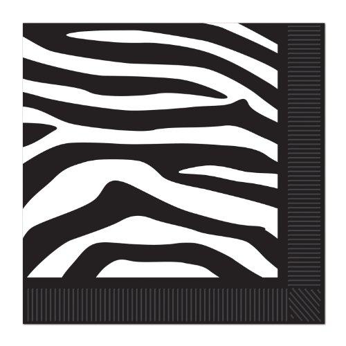 Zebra Print Luncheon Napkins 2 Ply