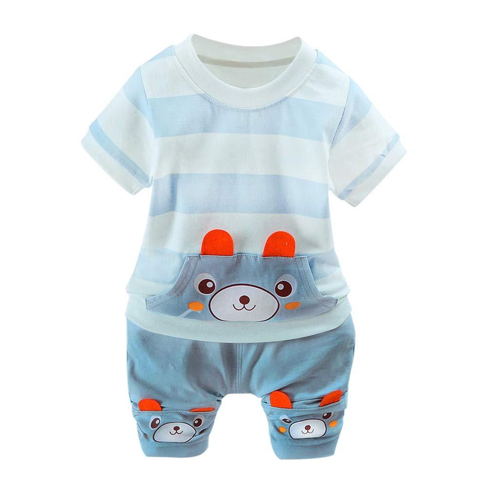 Logobeing 2PC Conjunto Ropa Bebe Recien Nacido Verano 0-24 Meses Niños Ojos  de Dibujos Animados Camisetas y Pantalones 94f15d9403a1