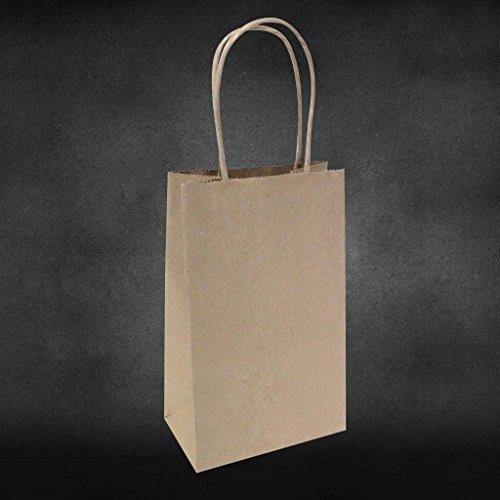 "5.25""x3.25""x8"" - 25 Pcs - Brown Kraft Paper Bags, Shopping,"