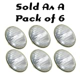 Lamp Lite 300 Watt Par 56 Wide Lamps, 6 Pack