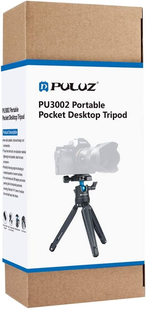 CHENYANTUB Camera Accessories Pocket Mini Metal Desktop Tripod Mount with 360 Degree Ball Head for DSLR /& Digital Cameras 11-21cm Adjustable Height