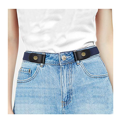 """(No Buckle Stretch Women Belt For Jeans Pants, Elastic Buckle Free Invisible Belts For Men Up To 48"""" by WHIPPY (Large Size: 32"""