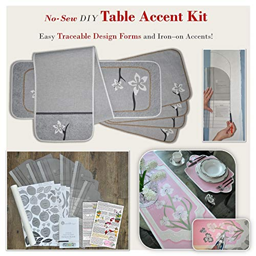 Traceable Designer Reusable DIY Table Accent Kit, Make No-Sew Table Runners, Dresser Scarves, Centerpieces and Placemats ()