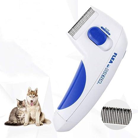 SLXSLX Peine eléctrico para pulgas para Mascotas Gato Peine para Perros Pulgas Herramientas de Aseo Matar Piojos Cepillo eléctrico para Cabeza Productos para Mascotas: Amazon.es: Deportes y aire libre