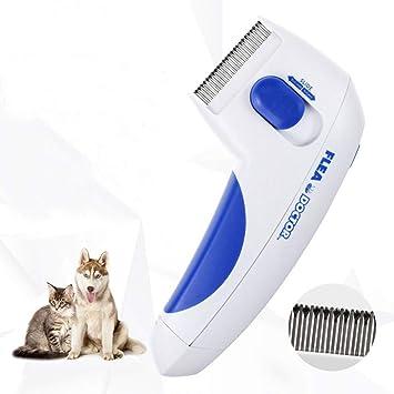 SLXSLX Pet Electric Comb Cat Dog Comb Fleas Grooming Removal Tools Automatic Electric Head Brush Pets Products: Amazon.es: Deportes y aire libre
