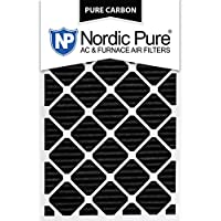 Nordic Pure 20x30x1PCP-3 20x30x1 Pure Carbon Pleated Ac Furnace Filters Qty 3