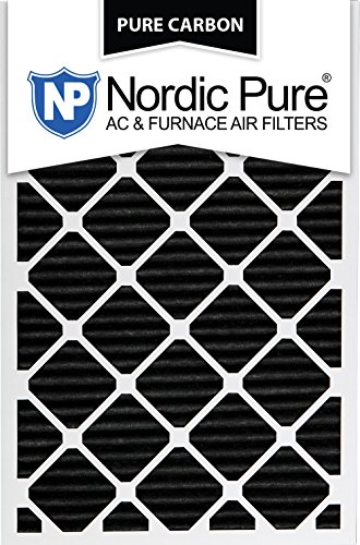 Nordic Pure 12x30x1PCP-3 12x30x1 Pure Carbon Pleated Ac Furnace Filters Qty 3