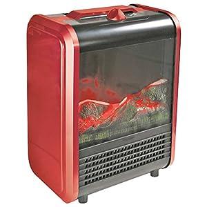 Amazon.com: Comfort Zone CZFP1 Metal Mini Electric Fireplace: Home ...