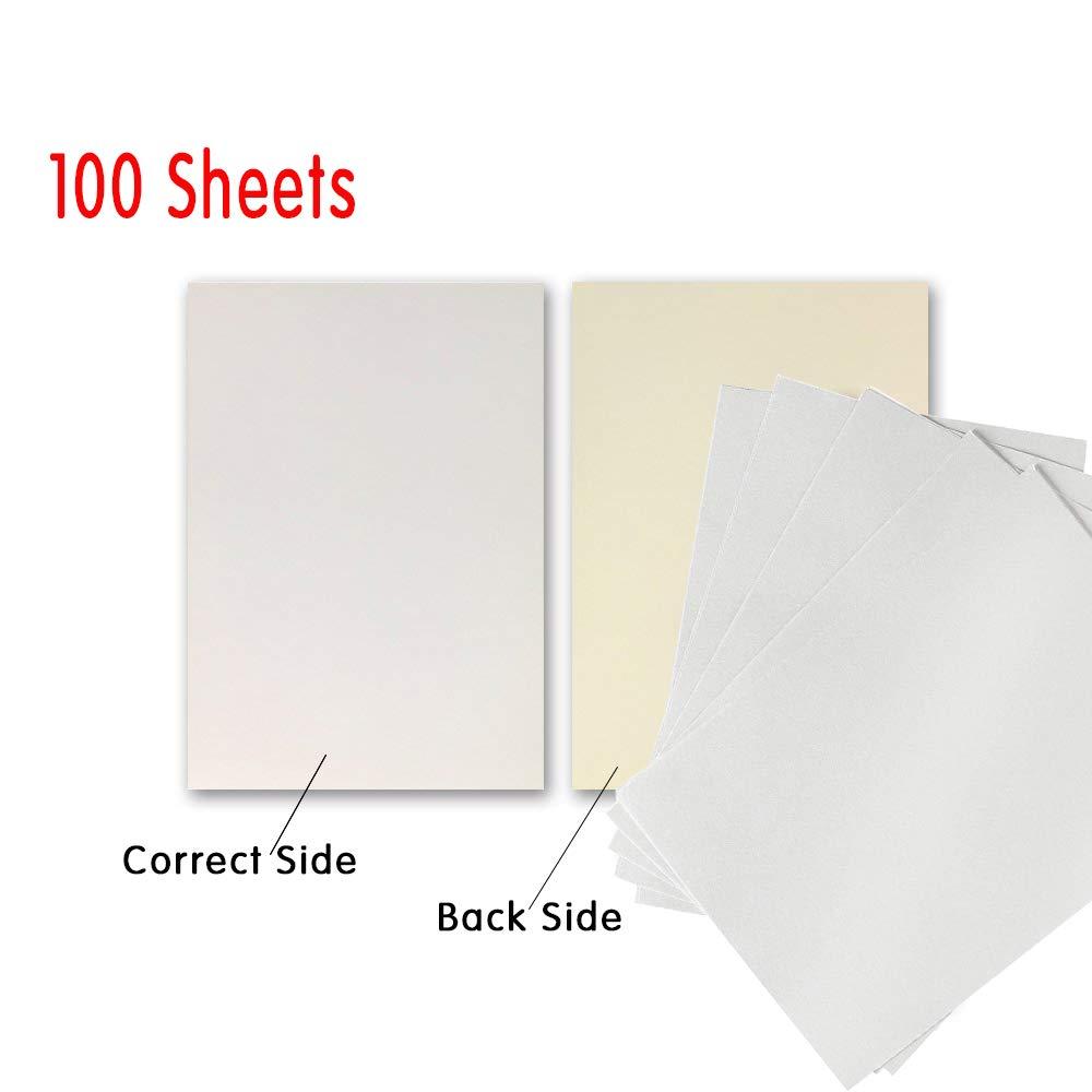 Amazon.com: Papel de sublimación 100 hojas de papel de ...