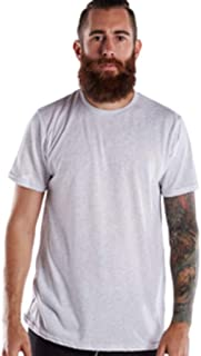 product image for US Blanks US2229 Men's Men's Short-Sleeve Triblend Crew Ash Medium