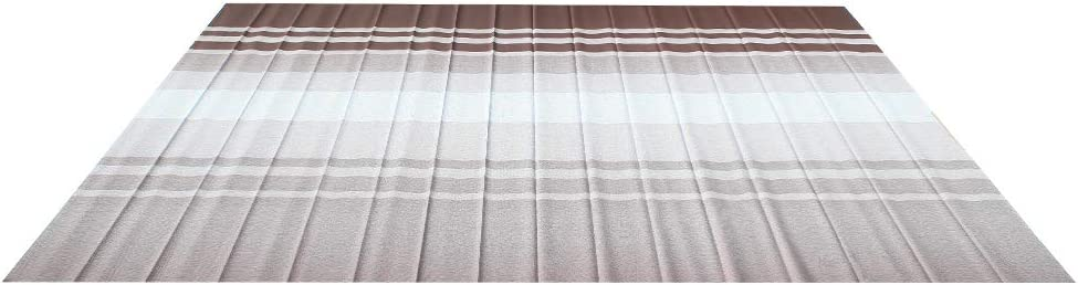 ALEKO Retractable RV Awning Fabric Replacement - 20x8 ft Shade Cover for Camper Trailer or Patio - Brown Stripes