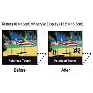 "Polarized Tester Test Your Sunglasses Polarized Lens 5.5""X6.5"" (BLACK, BEACH)"