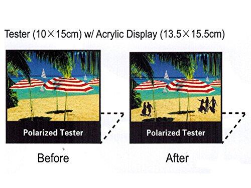 """Polarized Tester Test Your Sunglasses Polarized Lens 5.5""""X6.5"""" (BLACK, BEACH)"""