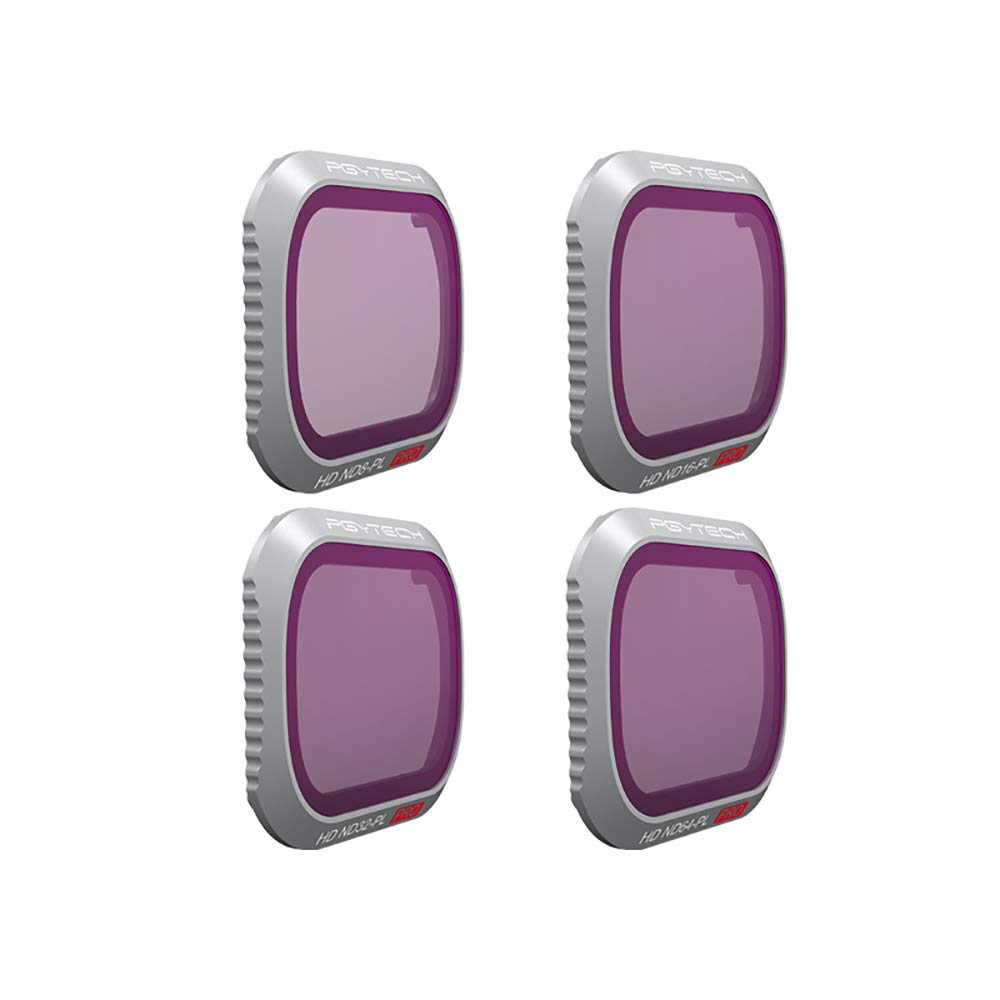 PGYTECH Mavic 2 PRO ND-PL Filters,ND-PL Lens Filter Compatible with DJI Mavic 2 Pro ND8-PL ND16-PL ND32-PL ND64-PL 4-Pack Filters Set (Professional) for Drones Accessories
