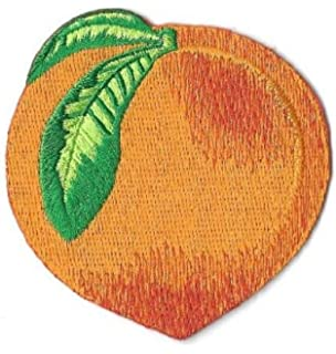 ed3cef1f650 Peach - Fruit - Georgia - Embroidered Iron On Applique Patch DIY Article of  Clothing