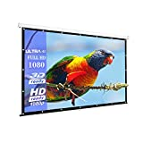 100-Inch outdoor Projector Screen Home Theater/Cinema or Presentation Platform - 16:9 Portable Tabletop Projector Screen - Suitable for HDTV/Sports/Movies/Presentations (100 inch)