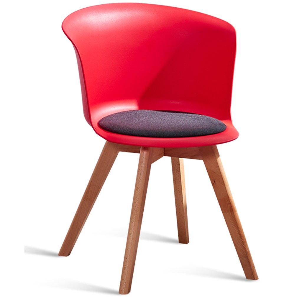 クッションパッド、モダンスタイル、屋内アウトドアユース、シックなダイニングベッドルームビストロカフェ、椅子スツールシート、プラスチック製ウッド張りのイエローリビングルームチェア (色 : Red, サイズ さいず : Set of 4) B07DXP3WYY Set of 4|Red Red Set of 4