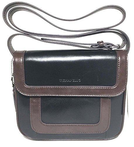 Tignanello Vintage Item Cross Body Black/Brown T57010A (Tignanello Brown Leather)