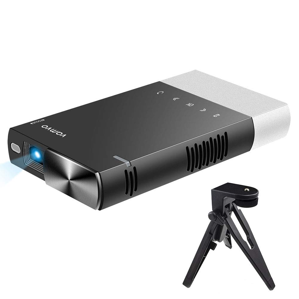 Mini Projector, vamvo Portable Projector Compatible for iPhone USB connection, Supports HDMI, USB, TF, and Micro SD S1
