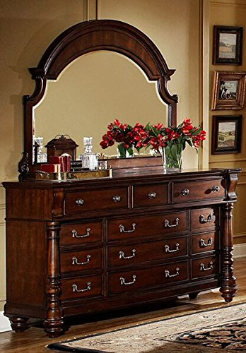 Wood Dresser N Mirror (Fairfax Home Collections Bainbridge Collection Dresser & Mirror)