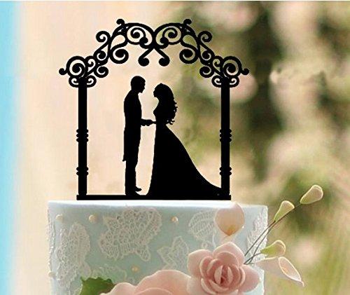 ShinyBeauty Wedding-Cake-Topper-Unique,Wedding Cake Topper Nightmare Before (Nightmare Before Christmas Wedding Decorations)