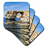 3dRose Azure Window, an Iconic Natural Arch at The Coast of Gozo, Malta. - Soft Coasters, Set of 4 (CST_209908_1)