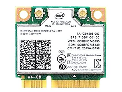 For Hp 710661-001 756753-001 784639-005 Intel Dual Band Wireless-ac 7260 7260hmw Half Mini Pcie Pci-express Wlan Wifi Card Module 802.11 Ac 867mbps ...
