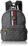 Tommy Hilfiger Women's Jaden Backpack, Black/White