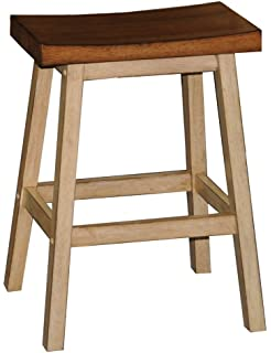 Quails Run 24 In. Saddle Counter Stool   Set Of 2