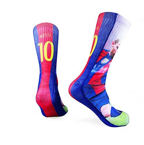 Forever Fanatics Barcelona Messi 10 Soccer Crew Socks
