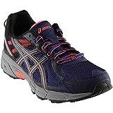 zappos shoes asics - ASICS Women's Gel-Venture 6 Running-Shoes,Indigo Blue/Black/Coral,9 Medium US