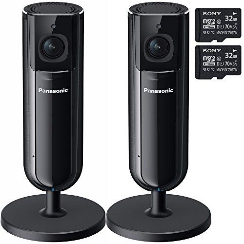 Two Panasonic Home Monitoring HD Cameras w/ Two 32GB Memo...