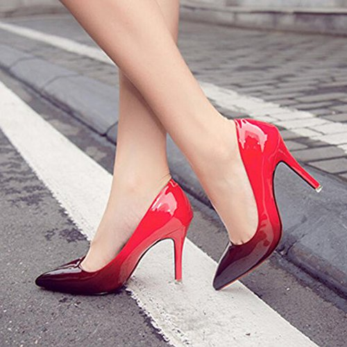 5cm Occupazione Office Pumps Alto Shallow Punte Di Cy Red Tacco Gradient Ladies 9 Col Scarpe Paint Stiletto For Girls Bouth Corte wxTRwXPZ