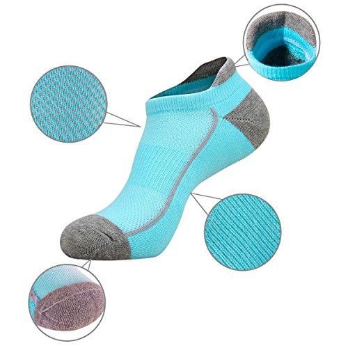Heatuff Womens Low Ankle Athletic Socks Running Tab