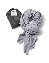 Bucky Blanket Scarf, Gray Stripe