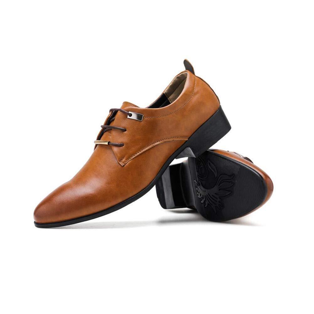 Lederschuhe Lederschuhe Lederschuhe der Männer, Frühlings-Fall-Neue Geschäfts-Schuhe, Spitzschuh-Kleid-Schuhe, Koreanische Version der Schuhe der Männer, Britische Art-Tendenz-Hochzeits-Schuhe ( Farbe   Braun , Größe   44 ) 9f1b3d