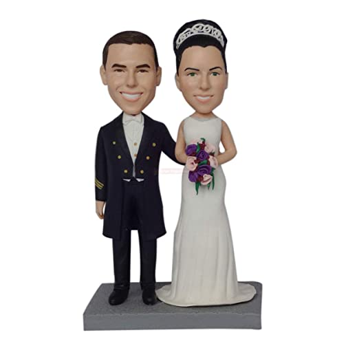 personalize bobble head,wedding bobbleheads,wedding cake topper,polymer clay,dolls gift Customized  figures,bobbleheads,wobble head