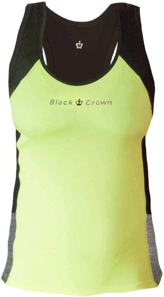 Black Crown Camiseta Lima Amarillo Negro Mujer