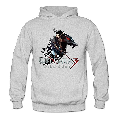 [XJBD Women's The Witcher 3 Wild Hunt  Attractive Sweatshirt Ash Size XXL] (Geralt Witcher 3 Costume)