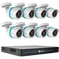 EZVIZ BN-1G28A3 16 Channel Home Security System Includes NVR with 3TB HDD & 8x Bullet Cameras