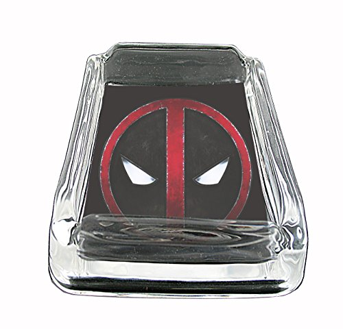 - Deadpool Comic Book Glass Square Ashtray
