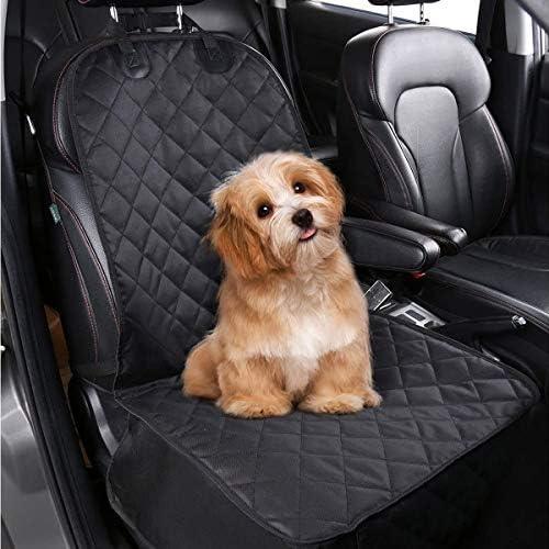 TYC Cubierto Asiento Perro, Funda para Mascotas para Asiento de Coche, Asiento Impermeable Anti-Deslizamiento para Mascotas Perro Gato(Negro) 5