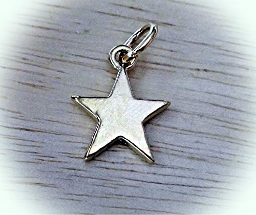 - 14 Kt Gold Vermeil Over Sterling Silver 15x13mm 5 Point Star Charm Vintage Crafting Pendant Jewelry Making Supplies - DIY for Necklace Bracelet Accessories by CharmingSS