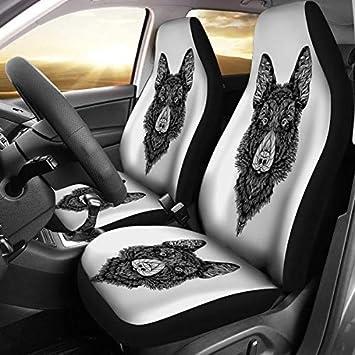 German Shepherd Art Print Car Seat Covers Universal Fit