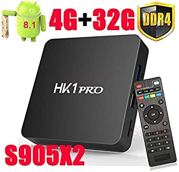 UHD 4K@60fps HDMI 2.0+USB 3.0 Android 8.1 tv Box for Home Theater BT 4.1 Amlogic S905X2 Quad-Core 64 bit Smart TV Box Support 2.4G//5.8G Dual Wifi SeeKool HK1 Pro Android Box 4 GB RAM 32 GB ROM