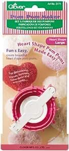 Clover - Accesorio para hacer pompones en forma de corazón (tamaño grande)