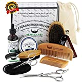BEARDCLASS Beard Grooming Kit Set for Men (12 in 1) - 100% Bamboo
