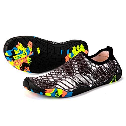 Plage Piscine Scratch Rapide Aquatique Femme Homme Bain Séchage Chaussure De Osyard Noir Nager Et Été Oz0qXR5n