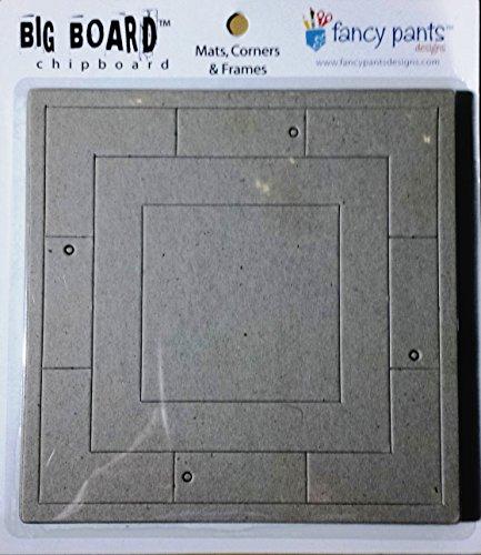 Fancy Pants Big Board Chipboard 6 Inch by 6 Inch Sheet, Mats/Corners/Frames