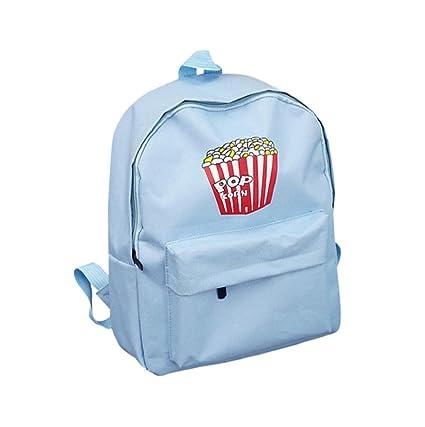 mochilas escolares juveniles - Sannysis pequeño bolsos de mujer verano (azul)